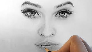 tutorial   how to shade and draw realistic eyes nose and lips with graphite pencils   emmy kalia