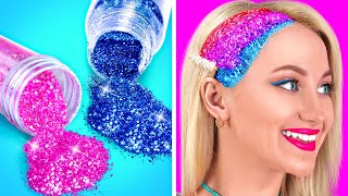 ULTIMATE BEAUTY HACKS FOR POPULAR GIRLS || Colorful Girly Hacks And DIY Tips By 123 GO! GOLD