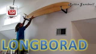 EASIEST WAY TO HANG A SURFBOARD!!