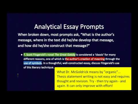 what is an analytical thesis statement