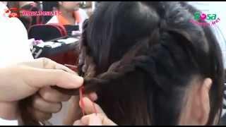 Cách tết tóc: thắt bính đơn giản của học viên Hồng
