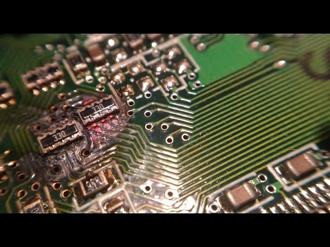 Melting A Computer Circuit Board