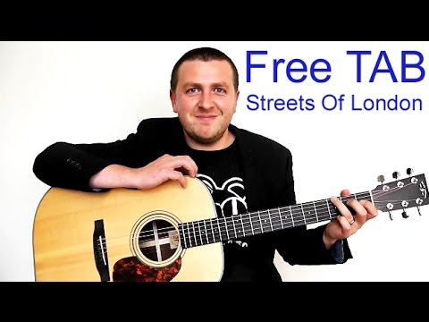 Streets Of London - Guitar Lesson - Ralph McTell - Drue James - YouTube