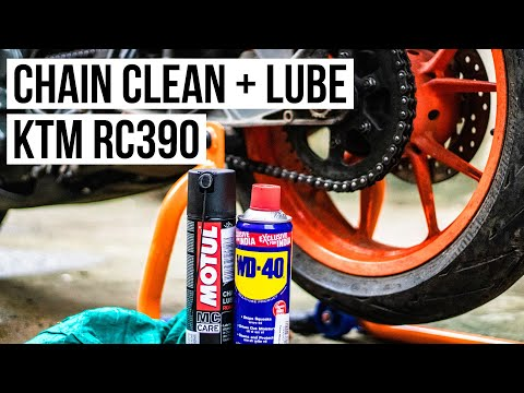 KTM RC390 Chain Lube