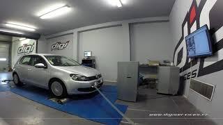 VW Golf 6 1.6 tdi 105cv Reprogrammation Moteur @ 143cv Digiservices Paris 77 Dyno