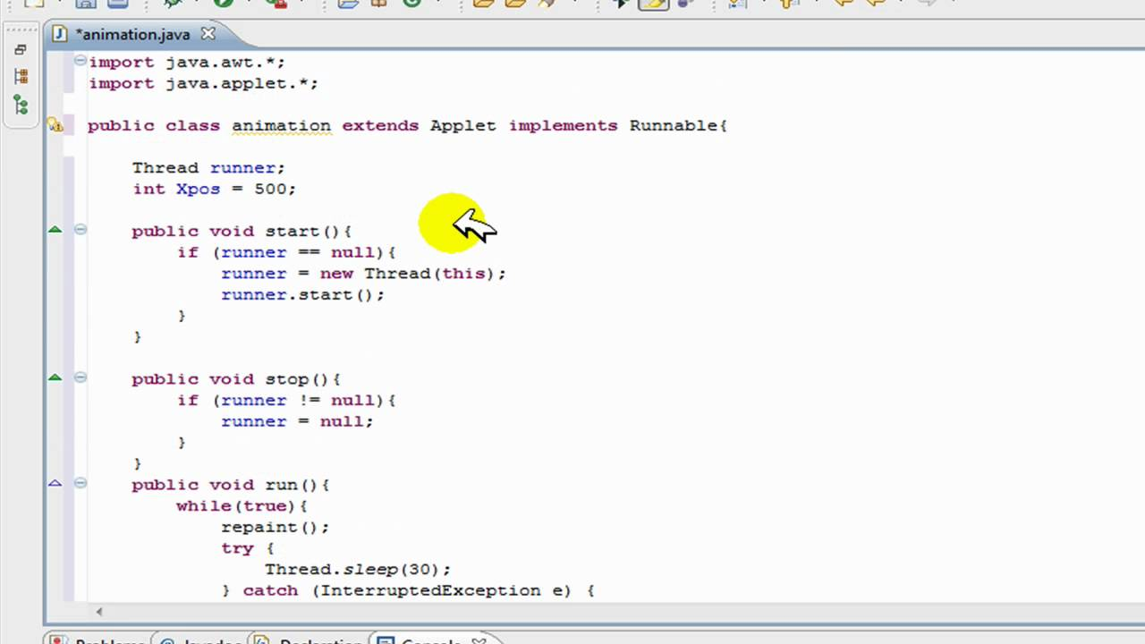 Drawing Lines Java Applet : Draw cartoon using applet ankaperla