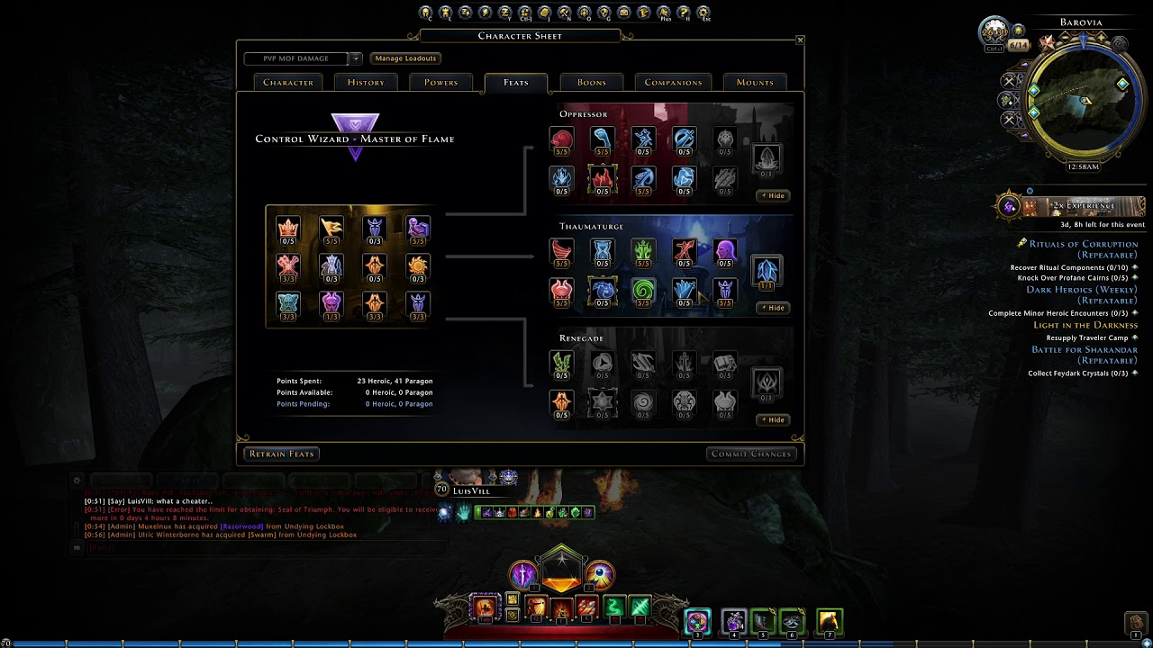 Neverwinter PvP Control Wizard - LuisVill - MOF BUILD FOR PVP