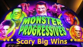WMS - Monster Progressives!  Big wins and progressive win!