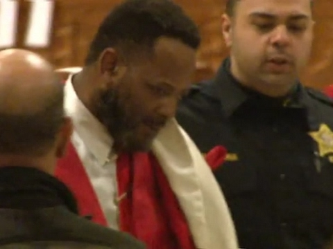 A Catholic bishop was punched during a church service on Saturday in Newark, New Jersey. (Jan. 30, 2017)