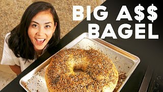 Lo Makes A Huge 8-Pound Bagel From Scratch   Delish   Whoa, Lo