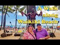 A Walk Along Waikiki Beach, Honolulu To The Ilikai Hotel - May 2019