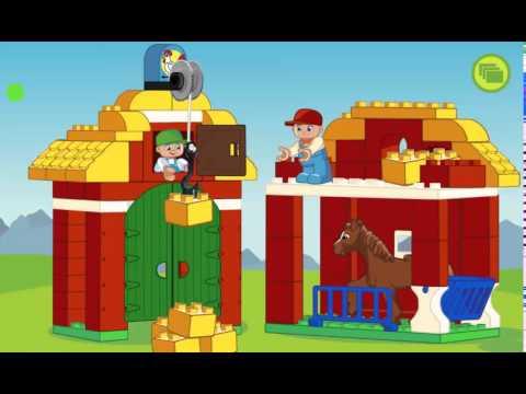 мульт игра Лего Дупло, ферма