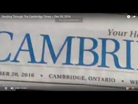 Reading Through The Cambridge Times ~ Dec 20, 2016