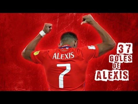 Alexis Sánchez - 37 Goles en la Selección Chilena