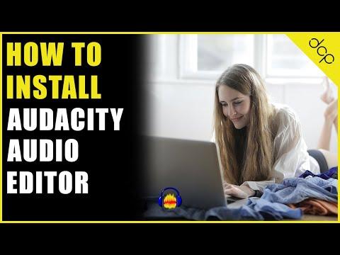 How to install audacity audio editor on Windows 10