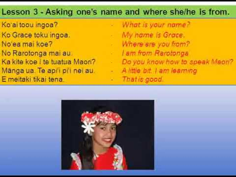LEARN COOK ISLANDS LANGUAGE - Lesson 3