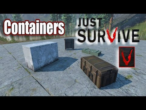 Just Survive   New Containers   Test Server Update   September 19th