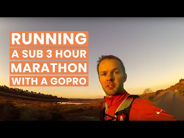 Running a sub 3 hour marathon with a Go Pro