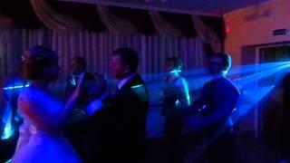 Лазерное шоу на свадьбу в Лиде - Александр и Илона (25.10.2014)