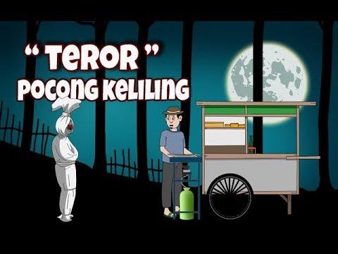 Kartun Hantu |  Kartun Lucu | POCONG KELILING | Animasi Horor | Seram