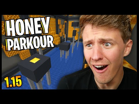 Minecraft HONEY BLOCK Parkour!! | Minecraft 1.15 Parkour Map