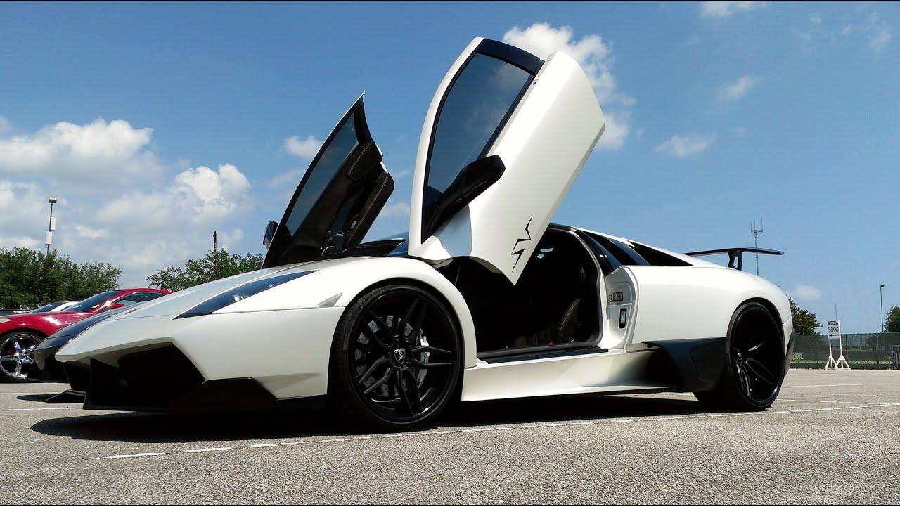 Lamborghini Of Miami >> Lamborghini Reventon, Aventador, Gallardo,Murcielago, Ferrari, Supercars at Miami event - YouTube