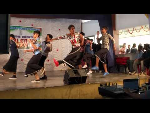 Mass dance by higher secondary students of MES CENTRAL SCHOOL PAVANGAD