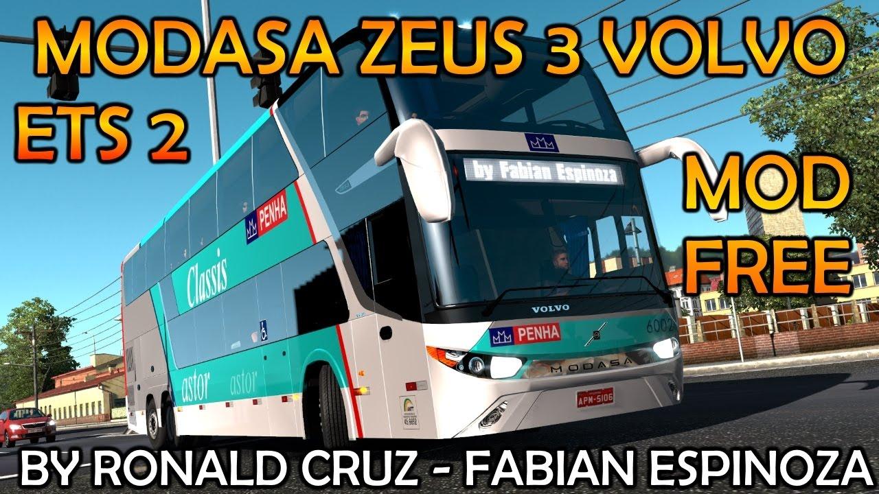 Modasa Zeus 3 volvo 6x2 v1.0 | Ets2 | 1.26.x +LINK [BUS FREE]