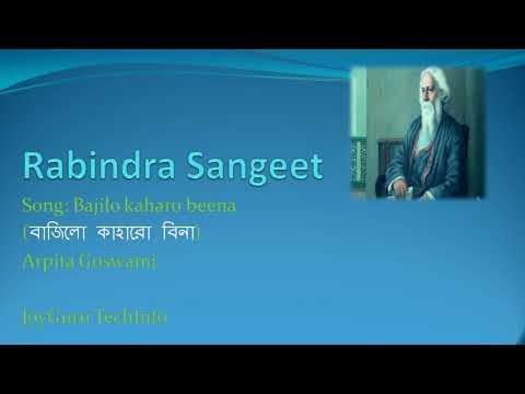 বাজিল-কাহার-বীণা-মধুর-স্বরে||bajilo-kaharo-bina-||rabindra-sangeet-||orpita-goswami||bengali-song
