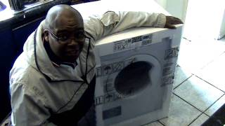 indesit washing machine unboxing