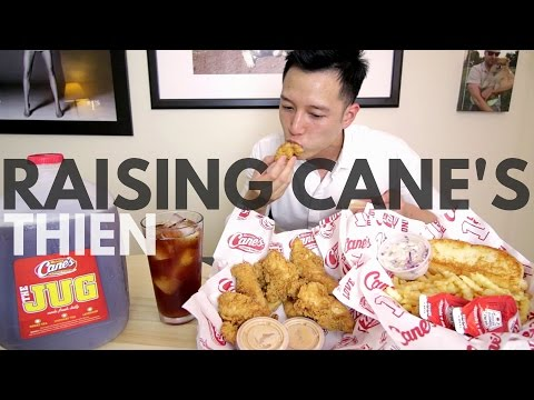 [mukbang with THIEN]: Raising Cane's (Chicken Fingers with Cane's Sauce, Texas Toast, and Sweet Tea)