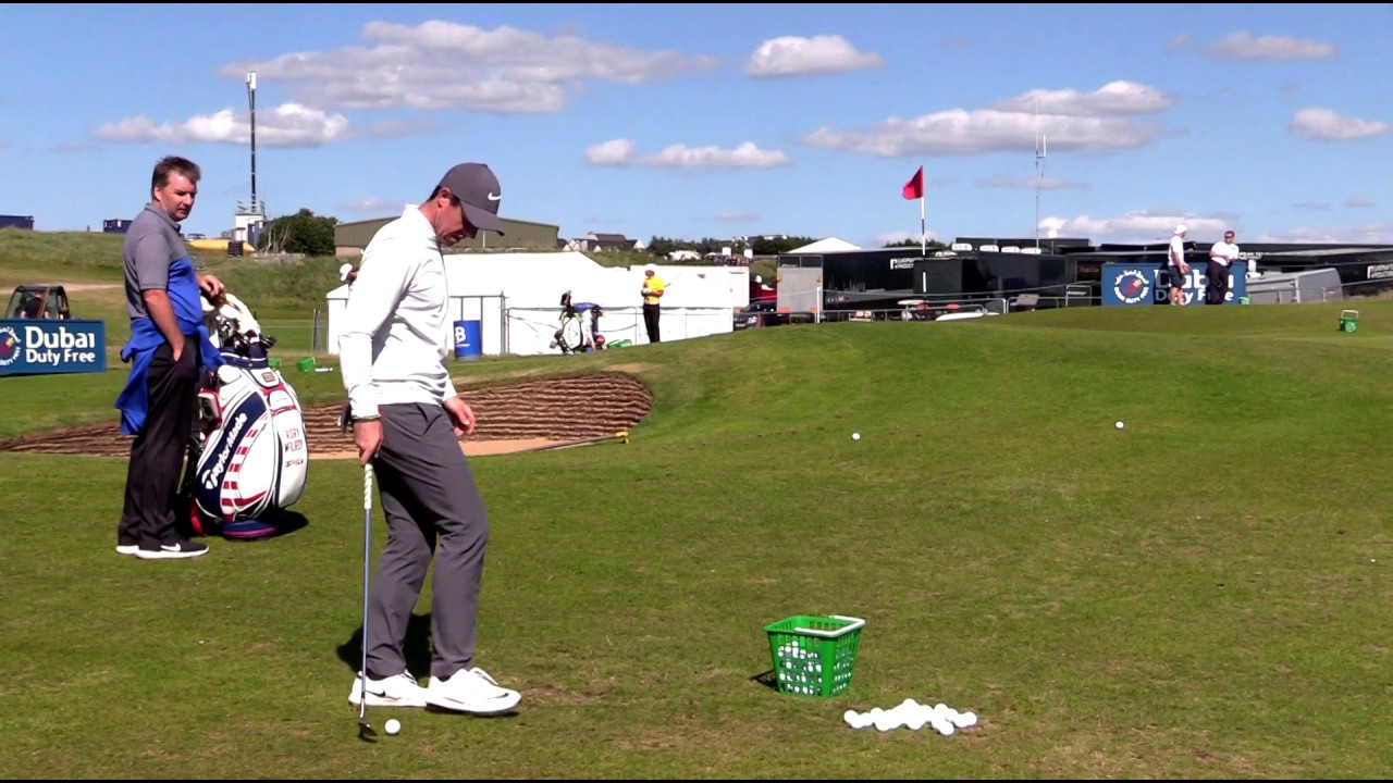 rory mcilroy pitching practice irish open 2017