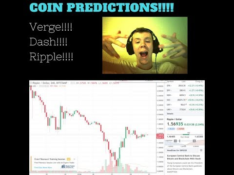 Coin Predictions Verge!! Dash!! Ripple!! Upcoming Crypto Giveaway!!!
