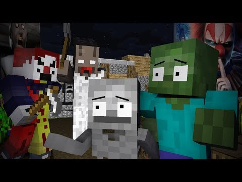 Monster School : SCARY CLOWN SURVIVAL WITH HORROR GRANNY -Minecraft Animation
