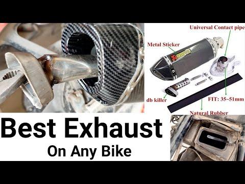 how to install akrapovic exhaust on Yamaha YBR || install universal exhaust on any bike - Pak Bike Repairing