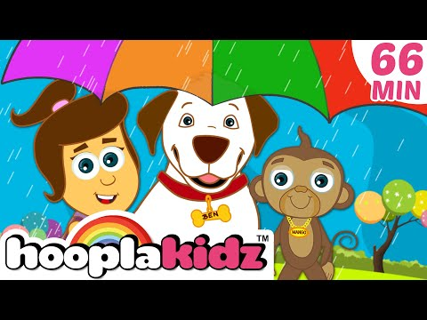 Rain Rain Go Away | Plus Lots More Nursery Rhymes Compilation For Kids by Hooplakidz | 60 Mins+