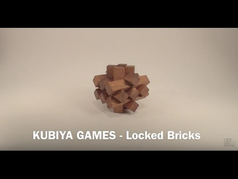 How To Solve The Locked Bricks Puzzle - BY KUBIYA GAMES