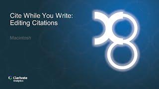CWYW for Macintosh: Editing Citations thumbnail