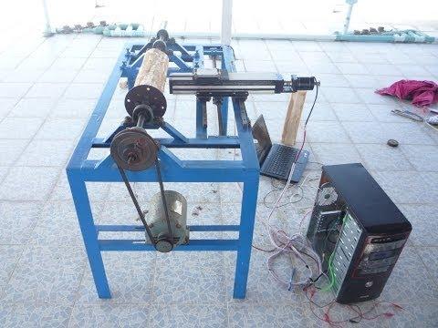 CNC wood lathe using Arduino and image processing