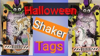 DIY - Halloween - Shaker Tags - gift tags - Paper to masterpiece -