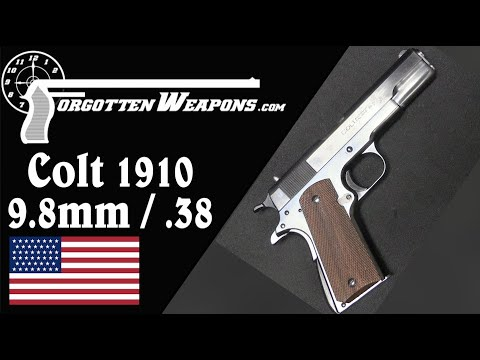 Colt's Prototype Scaled-Down Model 1910 in .38/9.8mm