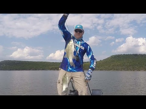 FOX Sports Outdoors SouthWEST #25 - 2017 Possum Kingdom Texas White Bass Fishing