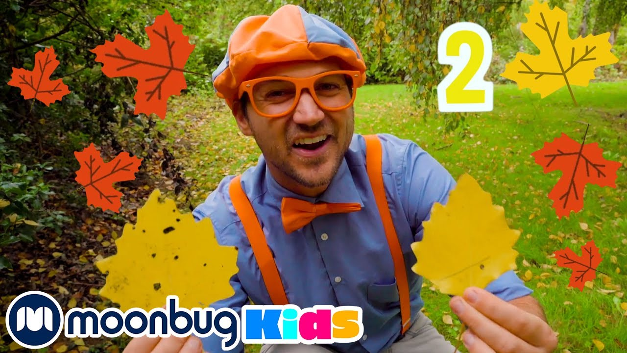 Blippi Creates Art with Autumn Leaves | Learn About Colors | Educational Videos for Toddler