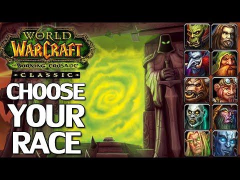 WoW Burning Crusade Classic Race Picking Guide
