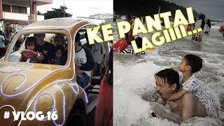 Bermain Selancar Sama Papa Di Pantai Pangandaran   Holiday At Pangandaran Beach