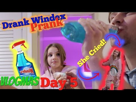 Hunter Hill: Drinking Windex Prank on Piper Rockelle (She Cried)