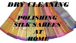 Dry Cleaning/How to dry wash Sarees at Home/Silk Saree Dry Cleaning at Home/Saree dry cleaning