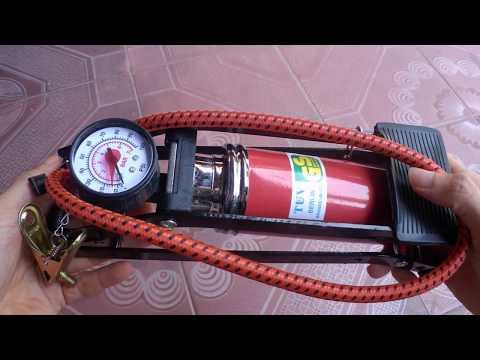 Bơm Hơi Mini Vừa Cốp Xe Máy Rất Tuyệt Vời Giá Chỉ 120k