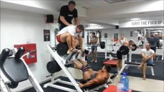 �������� ���� Жим ногами 800 кг Роман Гаврищук ������