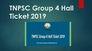 TNPSC Group 4 Hall Ticket 2019, CCSE Gr IV Admit Card, Exam Center